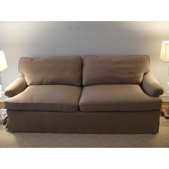 Newly Reupholstered Linen Sofa - Image 2 of 7