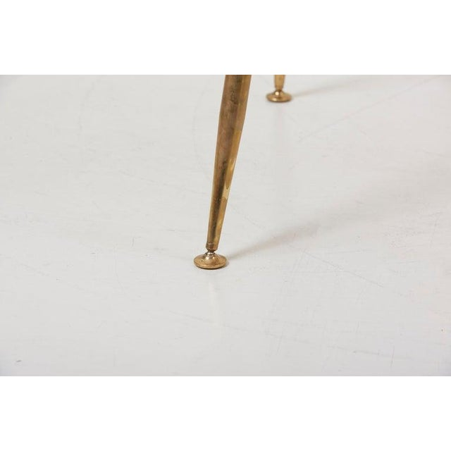 1950s Set of 10 Brass Leg Dining Chairs by Louis Sognot for Arflex, Italy, 1959 For Sale - Image 5 of 9