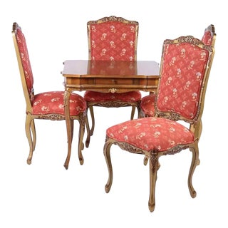 Italian Game Table & Four Chairs
