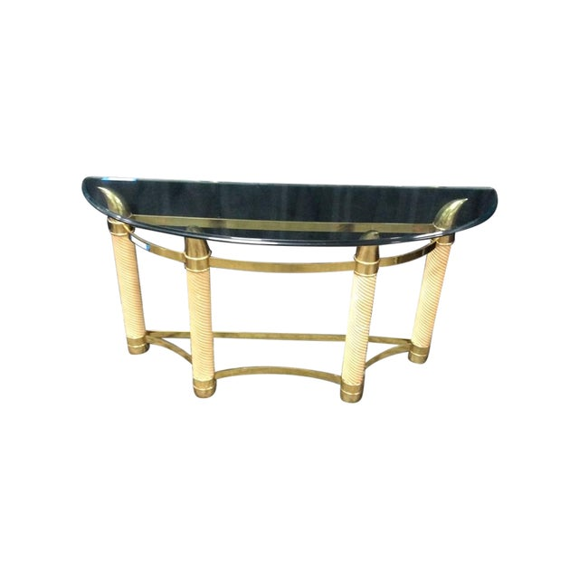 Mid-Century Modern Style Italian Console Table - Image 1 of 6