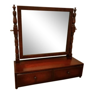 20th Century Kindel Cheval Style Dresser Top Shaving / Vanity Mirror For Sale