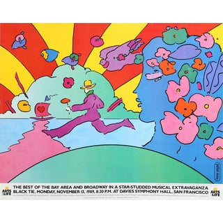"""1989 Peter Max """"Arts for Life"""" Poster For Sale"""