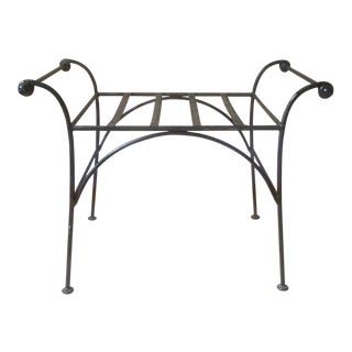 Iron Regency Cerule Metal Bench For Sale