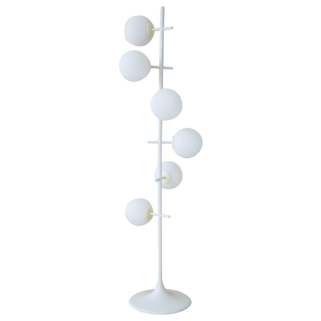 Rare Temde Leuchten Frosted Globes Floor Lamp For Sale