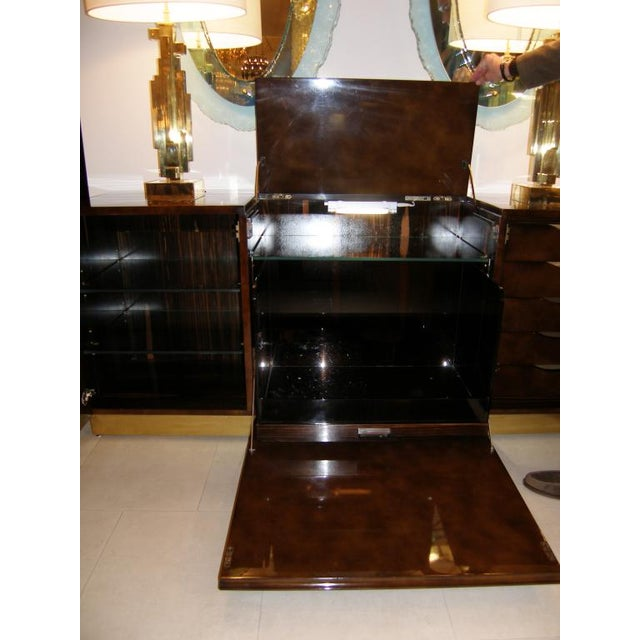 French Abstract Bronze Detailed Cabinet For Sale - Image 4 of 4