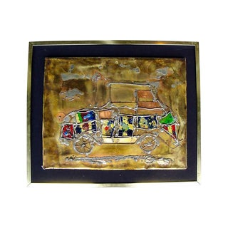 """Jalopy"" Mixed Media Wall Sculpture Signed Lelpe For Sale"