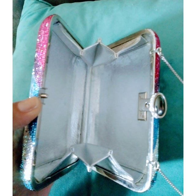 Stunning Judith Leiber Limited Edition Minideure Boa Holiday Crystal Hand Bag Purse For Sale In West Palm - Image 6 of 9