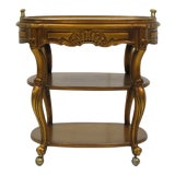 Image of French Style Giltwood Serving Cart For Sale