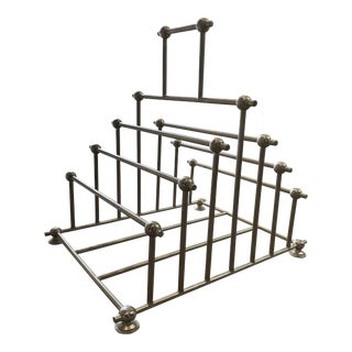 Global Views Nickel Magazine Rack For Sale