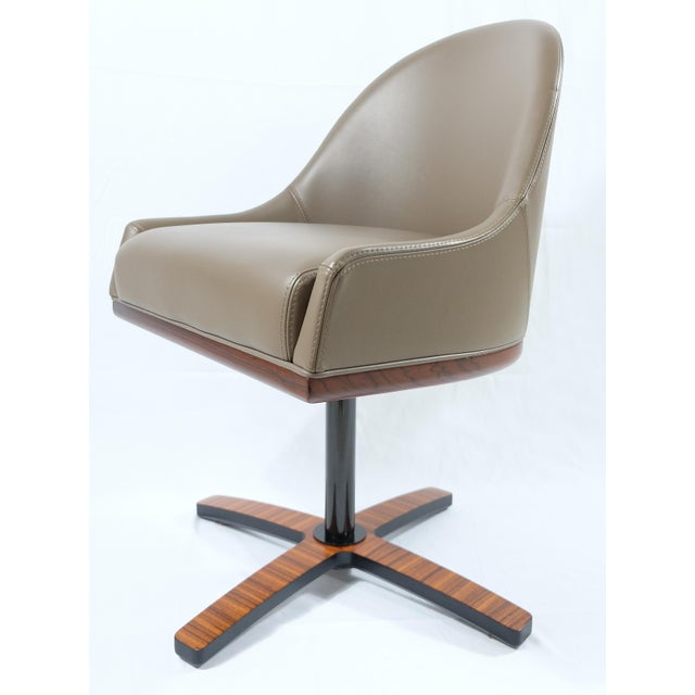 """Medea Mobilidea """"Chic"""" Swivel Chairs Designed by Umberto Asnago- a Pair For Sale - Image 11 of 12"""