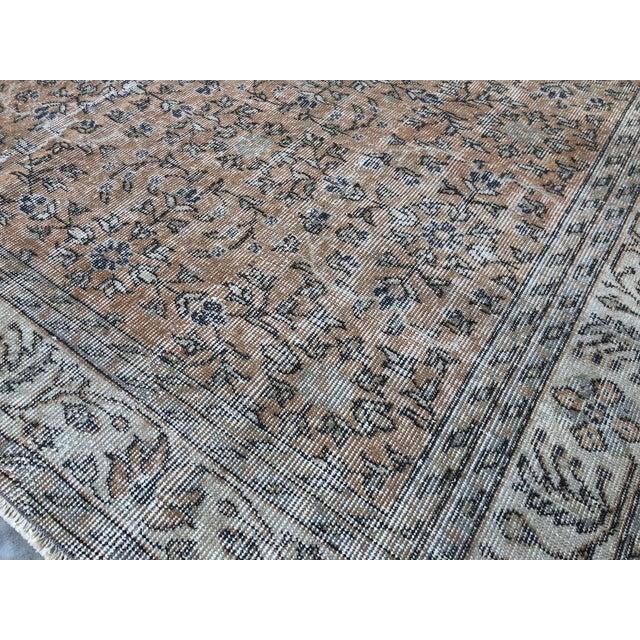 Textile 1960s Turkish Oversize Handmade Carpet For Sale - Image 7 of 10