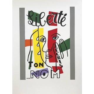 "Mid 20th Century ""Liberte"" Fernand Leger Lithograph Liberte, Maeght Publisher For Sale"