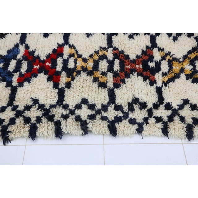 1980s 1980s Azilal Moroccan Rug - 3′ × 6′3″ For Sale - Image 5 of 6
