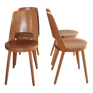 Mid-Century Modern French Bistro Chairs - Set of 4