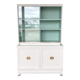 1960s Mid Century Modern China Cabinet For Sale