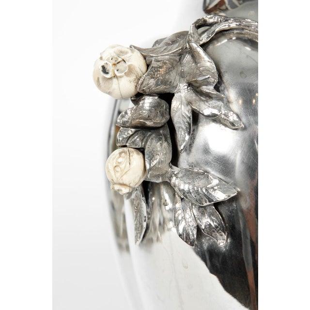 Large Antique Sterling Silver Centerpiece / Flower Vase For Sale - Image 11 of 13