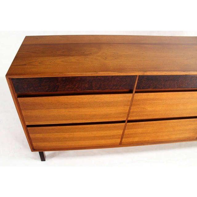 Danish Mid-Century Modern Walnut Long Dresser or Credenza by John Stuart For Sale In New York - Image 6 of 10