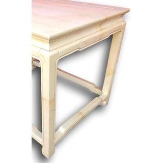Henredon Post Modern Goatskin Finish Table Preview