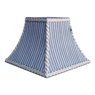 Blue Stripe Lampshade Square Bell Custom For Sale