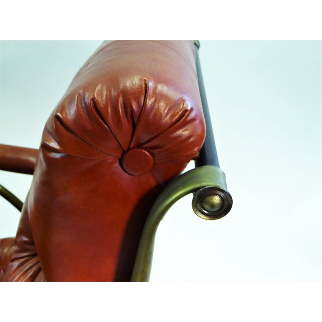 1970s Modern Woodard Sculptural Tufted Leatherette Rocking Chair For Sale In Miami - Image 6 of 12