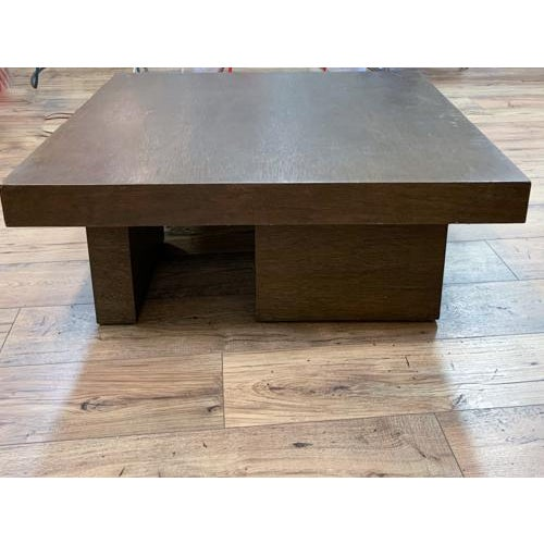 Mid Century Geometric Wood Coffee Table For Sale - Image 4 of 8