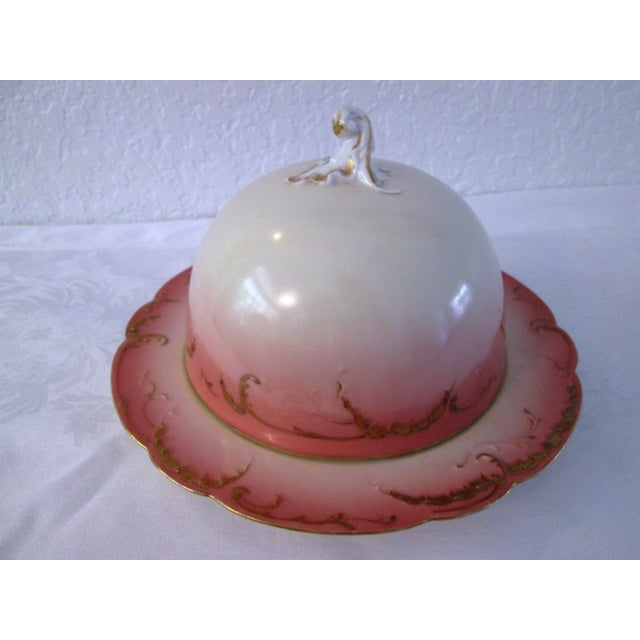 Antique French Limoges Domed Butter Dish - Image 2 of 7