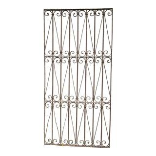 Antique Victorian Iron Gate Window Garden Fence Architectural Salvage Door #325 For Sale