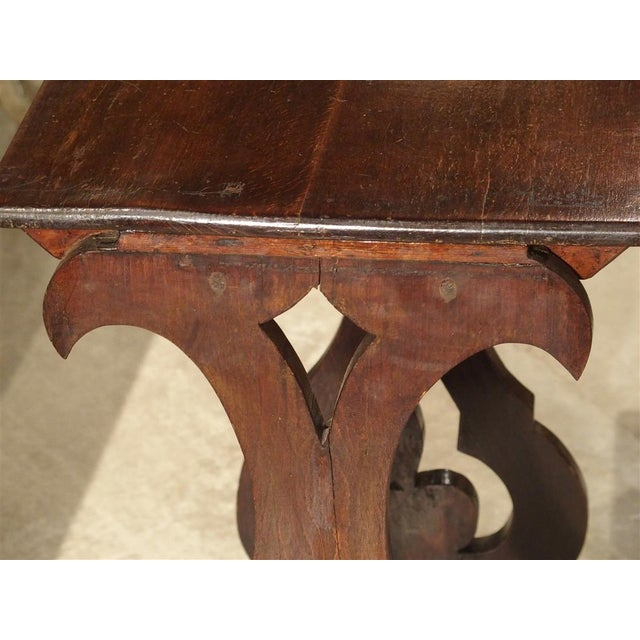 Brown Pair of Antique Italian Nesting Tables, C. 1900 For Sale - Image 8 of 13