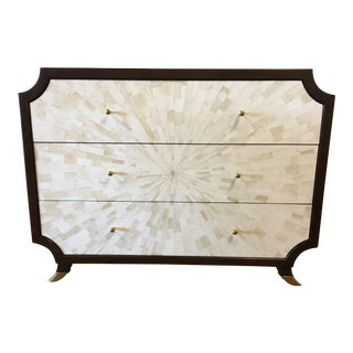 Bone Burst & Walnut Chest For Sale