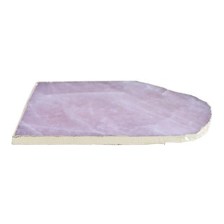 Rose Quartz Platter With Gold For Sale