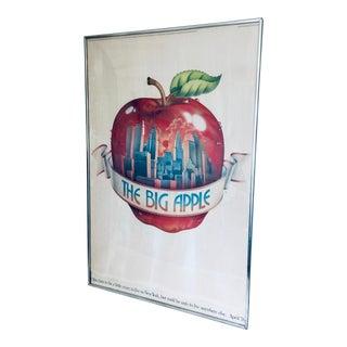 1976 the Big Apple of New York Original Poster Framed For Sale