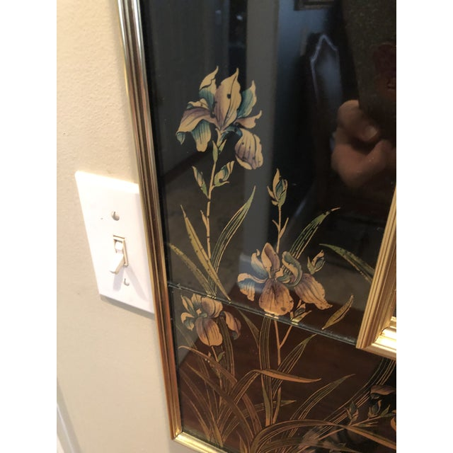 Glass Labarge Eglomise Chinoiserie Mirror - Final Markdown For Sale - Image 7 of 12