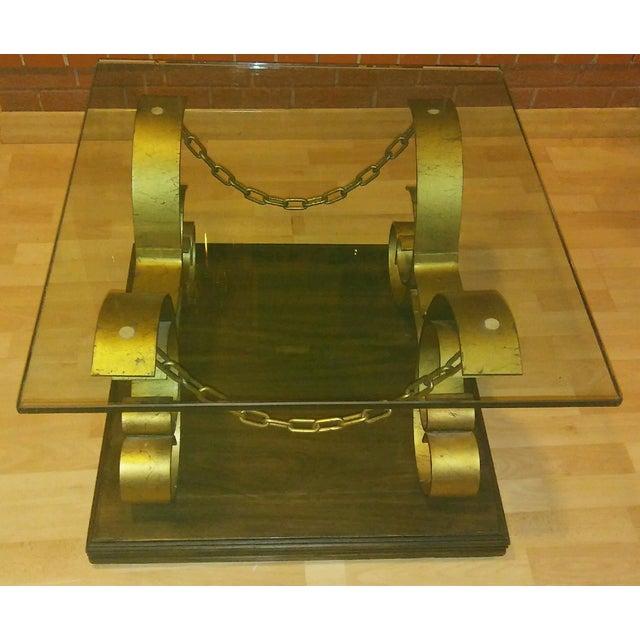 Vintage Kroehler Glass Top Coffee Table - Image 2 of 7