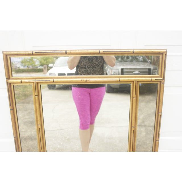 Gold Faux Bamboo Mirror - Image 6 of 7