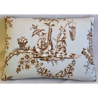 "Designer Bailey & Griffin Chinoiserie Feather/Down Pillow 22"" X 16"" Preview"