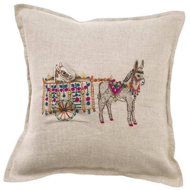 Donkey Cart Pocket Pillow For Sale - Image 4 of 4
