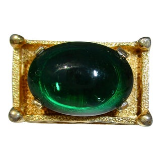 Trifari Emerald Ring For Sale