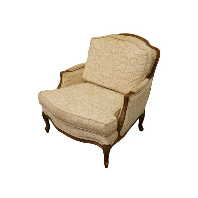 "Ethan Allen country French regency accent arm Chair 13-7136 w. 952 Cambridge Finish 35"" High 32.5"" Wide 39.5"" Deep Seat:..."