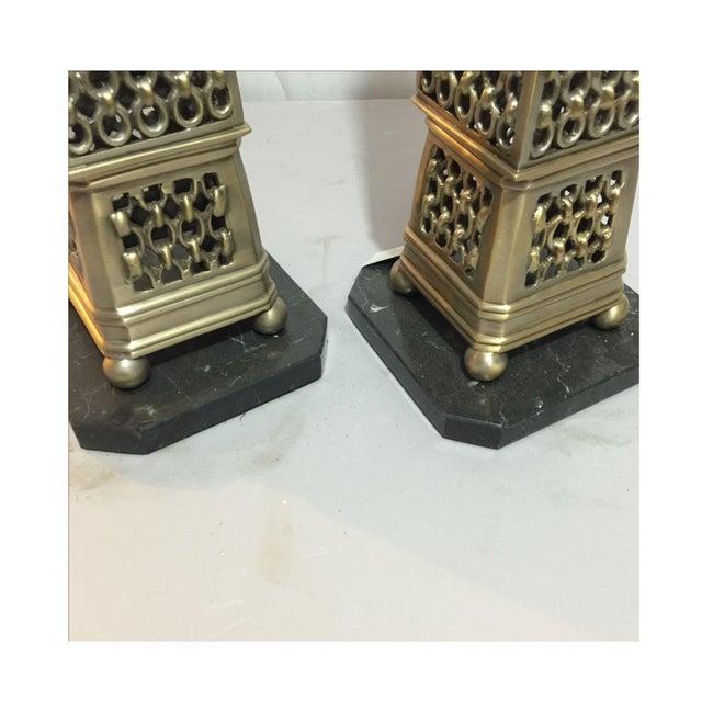 John Richard Metal Obelisks - a Pair - Image 3 of 5
