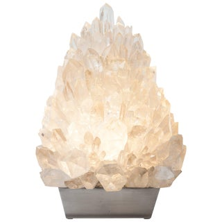 Meseta Ice, White Rock Crystal, Table Lamp, Demian Quincke For Sale