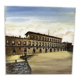 "Ceramic Wall Tile ""Palazzo Pitti"" Firenze Italy For Sale"