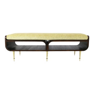 Bench Followed in 1990 in the Style of Paolo Buffa For Sale