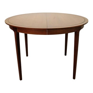 Mid-Century Modern Drexel Counterpoint Round Extension Walnut Dining Table #14