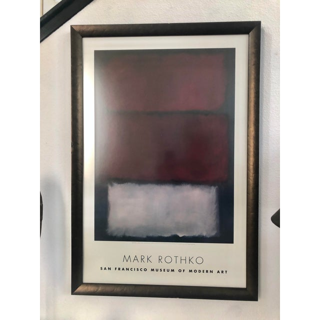 1960s Vintage Rothko Museum Framed Poster Print For Sale In Los Angeles - Image 6 of 7