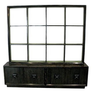 Hollywood Regency Cabinet With Shelves For Sale