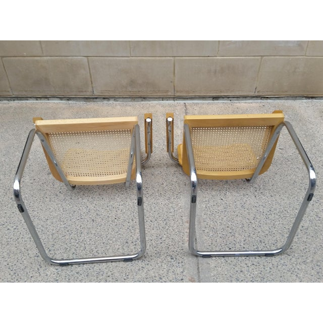 Marcel Breuer Italian Chairs - A Pair - Image 6 of 9