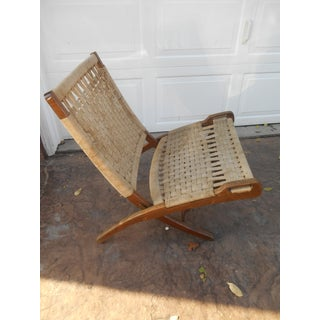 1960s Vintage Hans Wegner Style Rope Folding Chair Preview