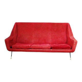 20th Century Italian Marco Zanuso Style Sofa For Sale