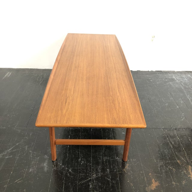 Mid-Century Modern 1960's Teak Frisco Surfboard Coffee Table by Folke Ohlsson For Sale - Image 3 of 13