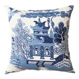 Image of Lee Jofa Willow Chinoiserie Pillow For Sale
